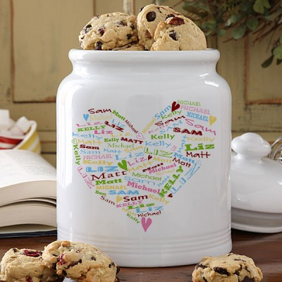 Best Mother's Day Gifts 2017 - Delight the woman who bakes with a personalized cookie jar that features her childrens' names!