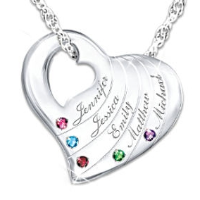 Mother's Day Necklaces with Names