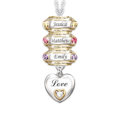 My Family, My Joy Birthstone & Name Necklace
