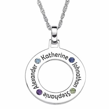 Circle Mother's Day Necklaces with Names