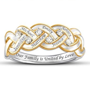 Elegant Mother's Day Gifts for Grandmothers - Sparkling diamond ring that's personalized with her loved one's names is a gift that your grandmother will enjoy wearing for years to come!