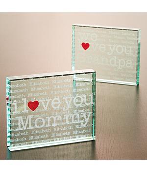 I Love You Mommy Glass Keepsake