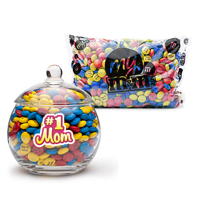 #1 Candy Bowl with Personalized M&Ms