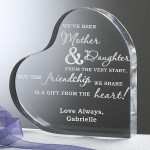 Mother and Daughter Personalized Heart Shaped Keepsake