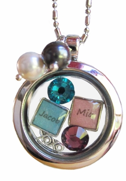 My Story Lockets:  Design Your Own New Mom Necklace