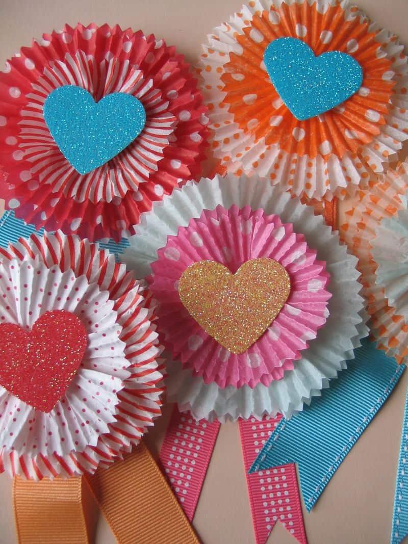 Cupcake Liner Flower Cards