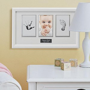 Baby Handprint and Footprint Picture Frame