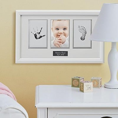 Baby Handprint and Footprint Photo Frame