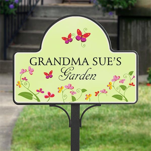 Mother's Day Gifts for Grandmas who Love to Garden - Brighten grandmother's garden with this colorful personalized garden stake!