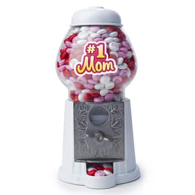 1st Mothers Day Gift Ideas 2017 - #1 Mom M&M dispenser is a fun gift for the new mom!  Add personalized M&Ms with the baby's photo for a unique twist.