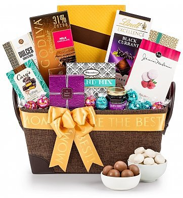 Mother's Day Gourmet Gift baskets - treat Mom to a decadent selection of divine treats this year!