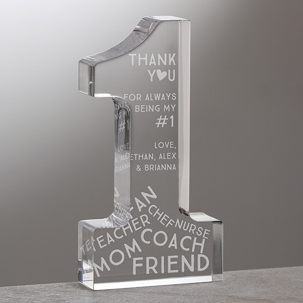 Personalized #1 Mom Keepsake Award