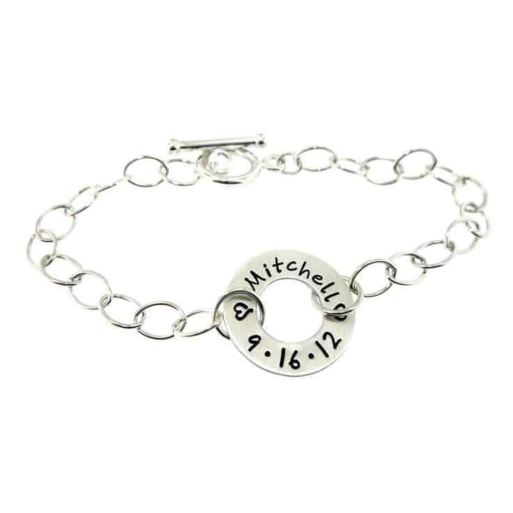 New Mom Bracelet with Baby Name
