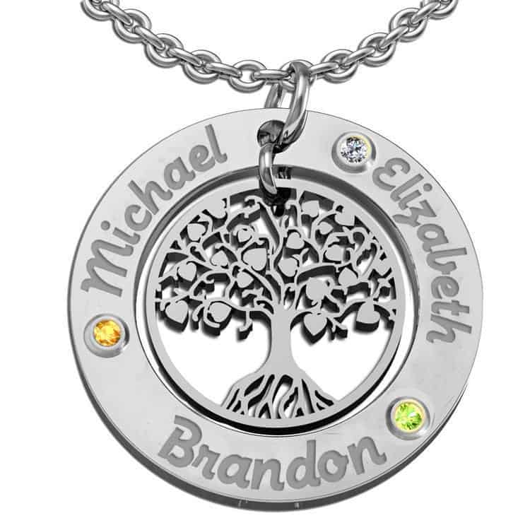 The Three of Us Family Tree Necklace
