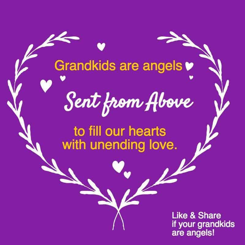 Grandkids are angels sent from above to fill our hearts with unending love.