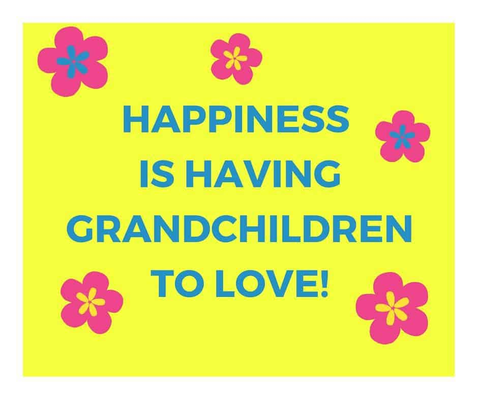 Happiness is having grandchildren to love!