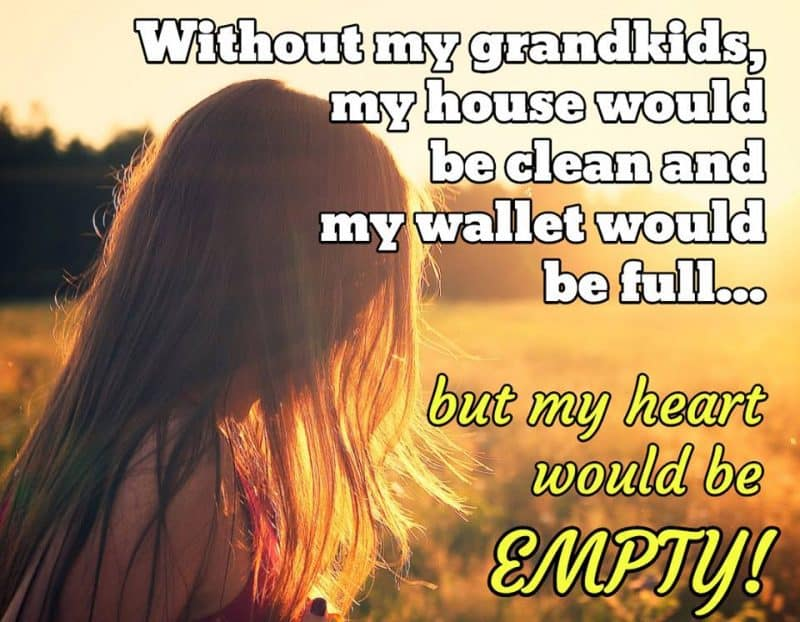 Without my grandkids, my house would be clean and my wallet would be full...but my heart would be EMPTY!