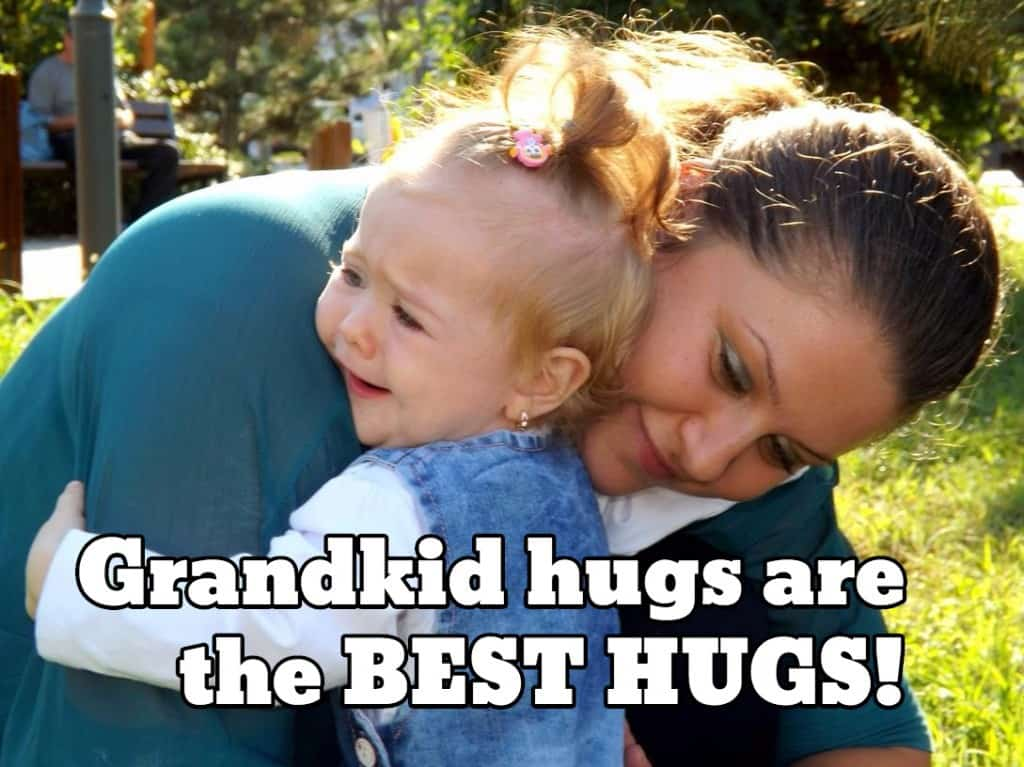 Grandkid hugs are the best hugs!