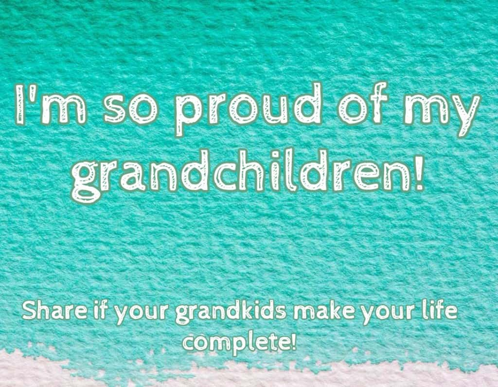 I'm so proud of my grandchildren!