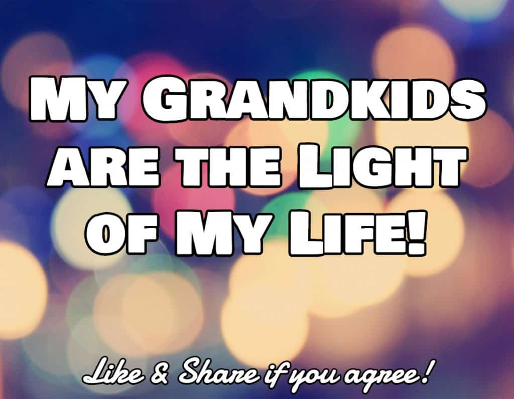 My grandkids are the light of my life!