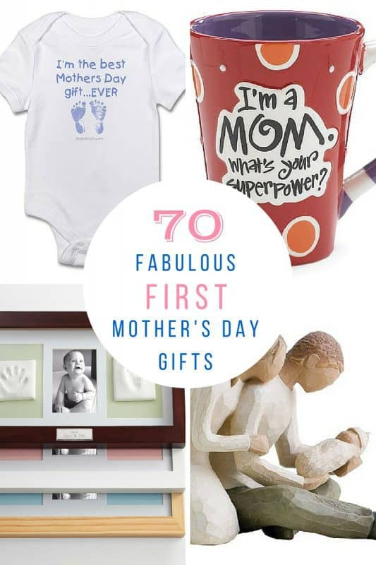 Great selection of first Mother's Day gifts that will make any new mom's day special!