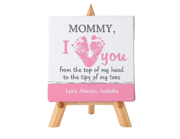 I Love Mommy Personalized Canvas Choice Of Colors
