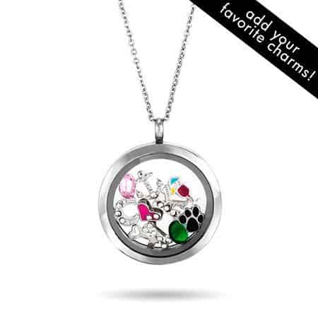 Floating Charms Locket Necklace