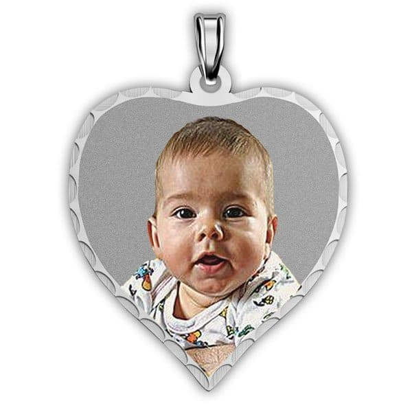 Heart Necklace with Engraved Photo