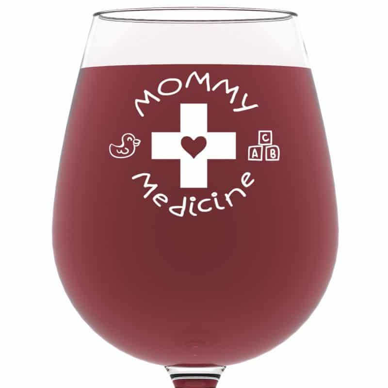 Funny Mothers Day Wine Glass for Wife