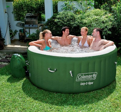 Mothers Day Gifts for Stressed Wife - give your wife the gift of relaxation with an affordable inflatable hot tub!