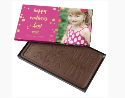 First Mother's Day Chocolates - Surprise the new mom on her special day with a box of personalized Mother's Day chocolates.