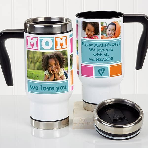 Personalized Photo Mom Travel Mug