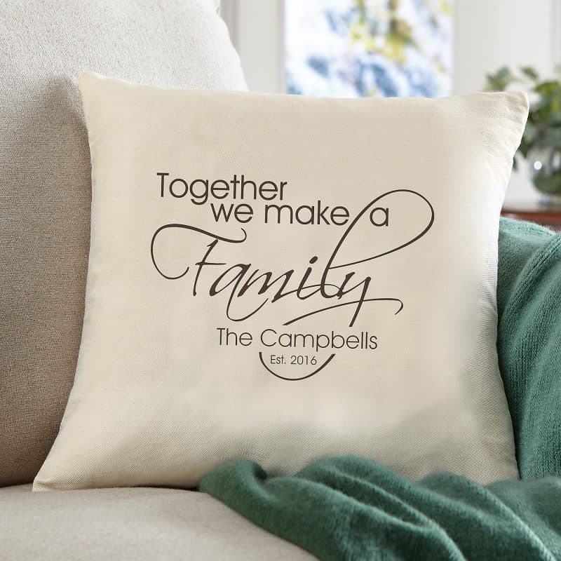 Together We Make a Family Personalized Pillow