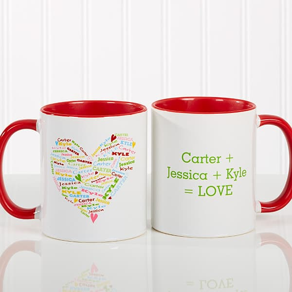 Personalized Heart of Love Coffee Mug