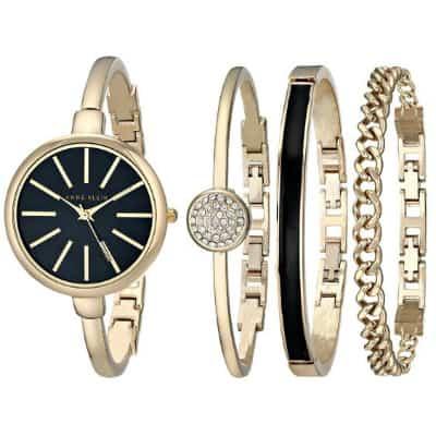 Anne Klein Bangle Watch and Bracelet Set