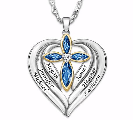 Handstamped Grandma Birthstone Necklace