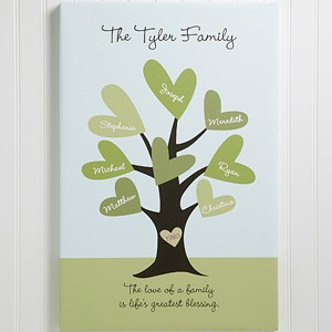 Family tree canvas is a way to celebrate the love your family shares.  Perfect Mother's Day gift for wife, Mom or Grandma!