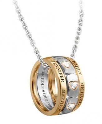 Mom's Forever Love Personalized Necklace with Names