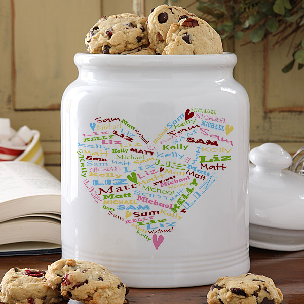 Heart of Love Personalized Cookie Jar