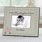 Tan and Pink New Grandbaby Frame