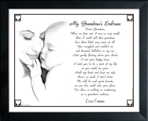 My Grandma's Embrace Personalized Print