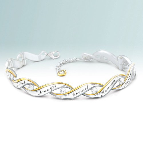 Amaze Mom this holiday season with an elegant diamond bracelet that's personalized with all her loved one's names.
