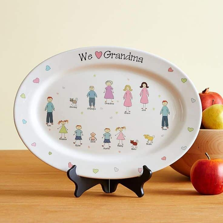 Family Characters Platter – Personalized