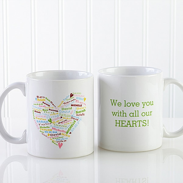 Personalized Heart of Love Coffee Mug