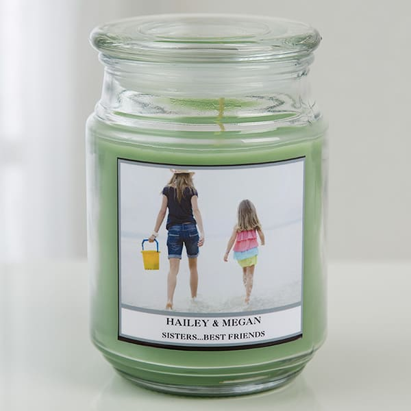 Photo Personalized Glass Candles