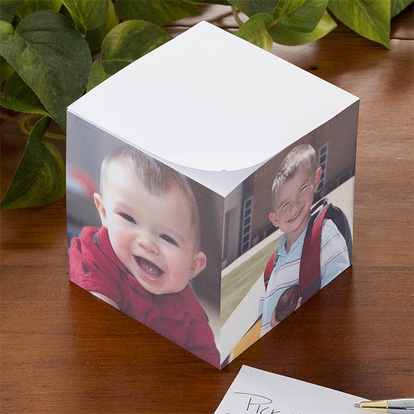 Personalized Photo Sticky Note Pad Cube