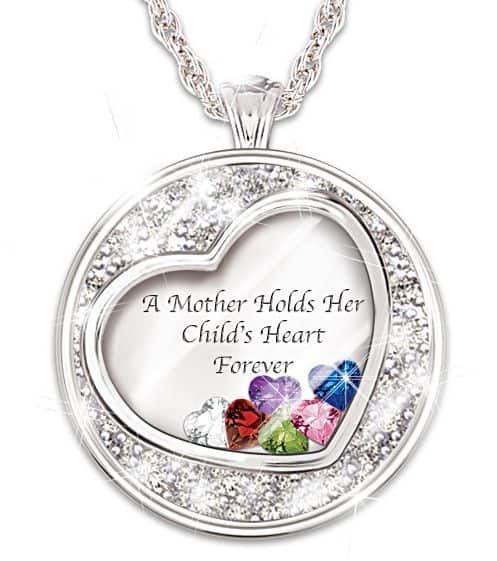 Our Family Is United By Love Diamond Necklace With Names