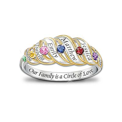 Circle of Love Personalized Mother's Ring - Thrill Mom or Grandma this year with this beautiful personalized family ring.