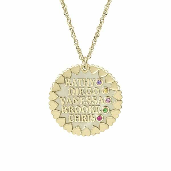 "Loving Family"" Personalized Necklace"