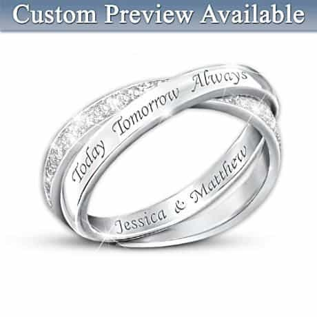Today, Tomorrow, and Always Personalized Ring